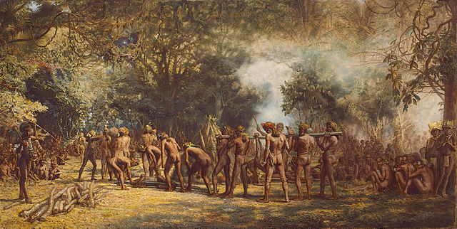 Painting by Charles E. Gordon of Tanna Tribe