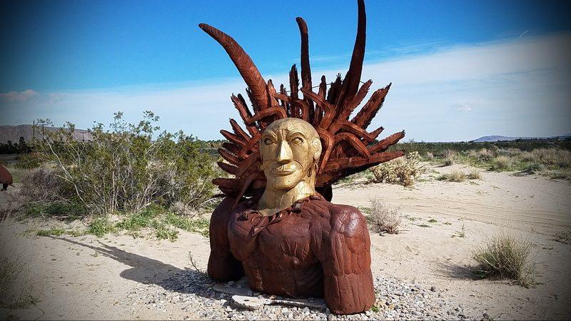 desert sculptures near Borrego Springs