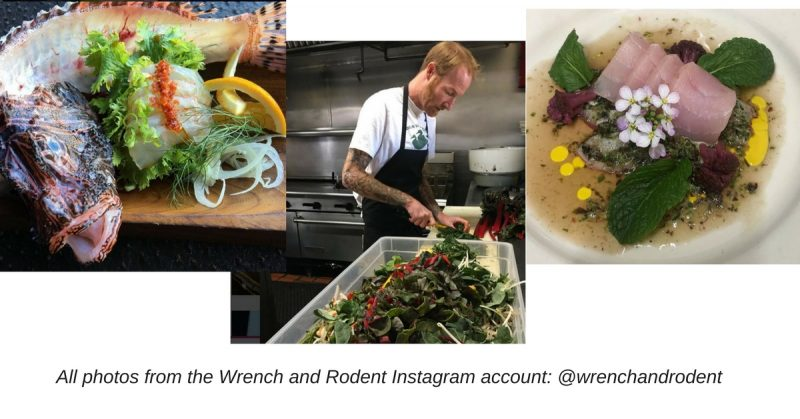 Chef Davin Waite and his creations from Wrench and Rodent
