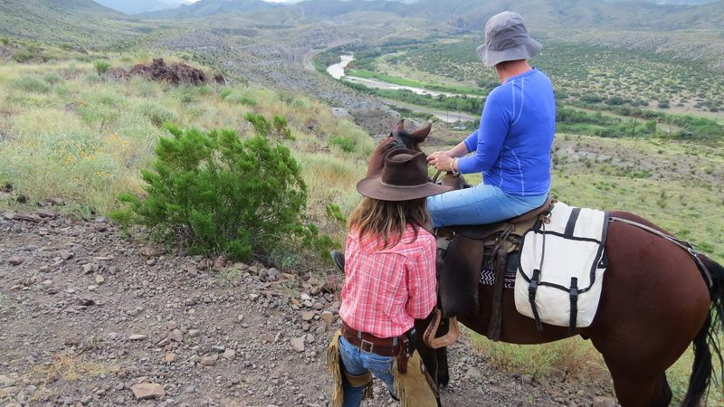 Horseback riding above the Rio Grand.