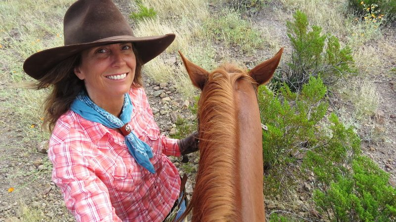 Kelly the cowgirl and Lajitas Stables guide