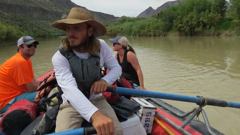 Our paddle master at work on the Rio Grande