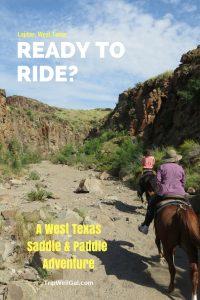 horseback riding, Lajitas, West Texas pin