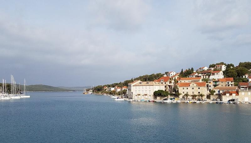 Leaving Milna when cruising Croatia