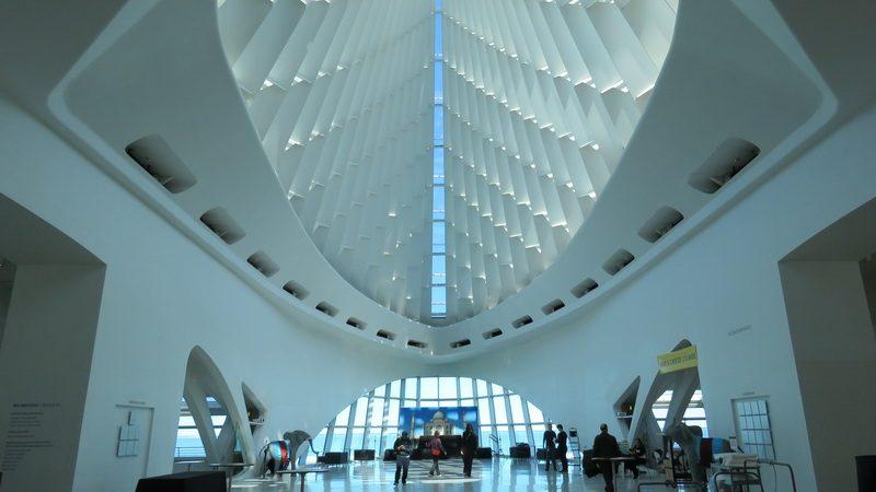 Inside the Milwaukee Art Museum