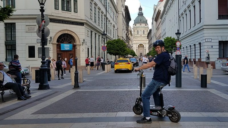 Electric Scooter for getting around Budapest