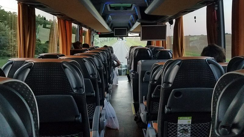 Riding the bus into Kosice Slovakia