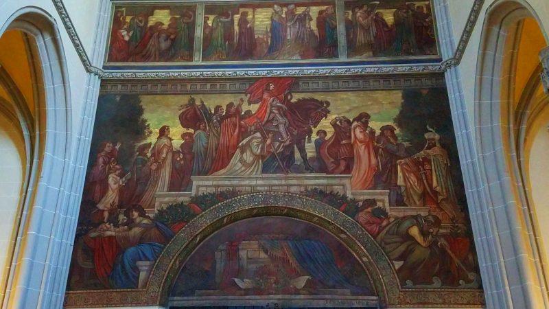Mural inside St. Elizabeth's