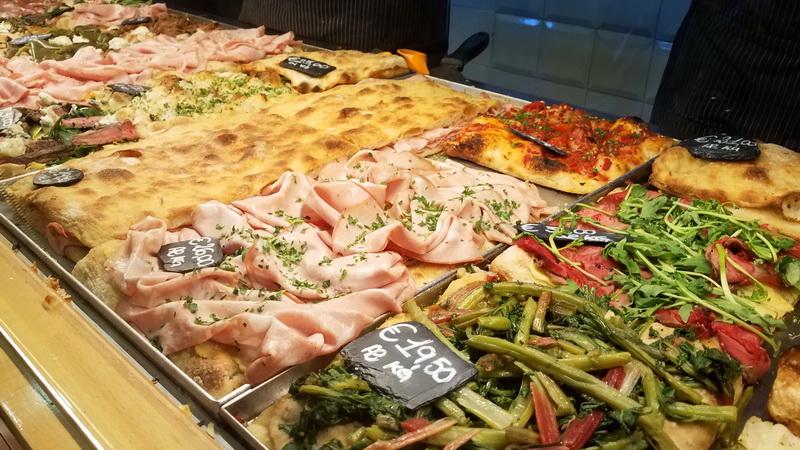 This is pizza inside Bonci Pizzarium!