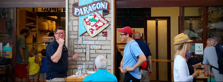 eat local on a roman food tour starting at Bonci Pizzarium