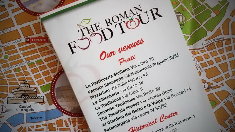 roman food tour brochure