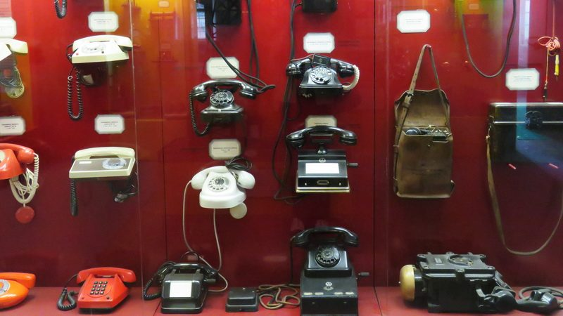 Ironically, I had to take a picture of old phones with my cell.