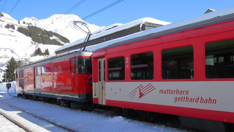 swiss rail from Andermatt station
