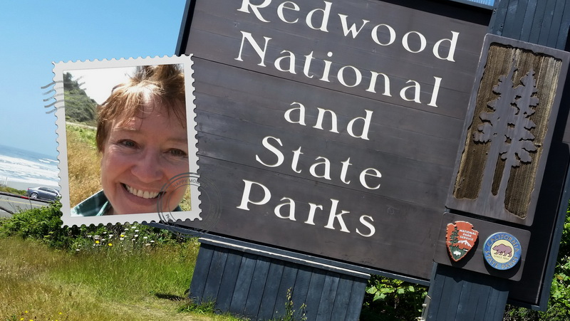 Redwood National and State Parks entrance sign