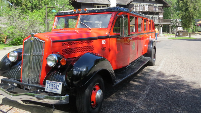 The Red Car - Glacier National Park historical shuttle