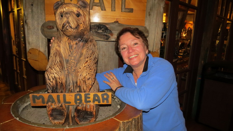 The mail bear inside the Mount Rainier Lodge.
