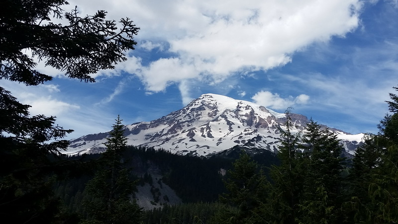 Mount Rainier is one of the US National Parks in the Pacific Northwest