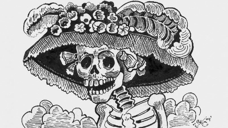 The original Calavera de la Catrina by José Guadeloupe Posada