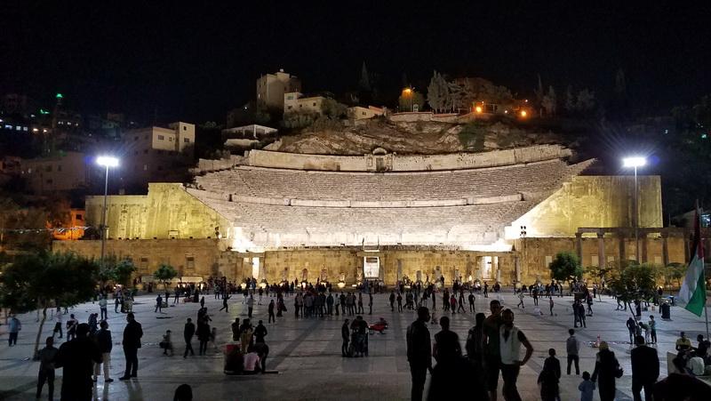 The Roman Amphitheater in downtown Amman