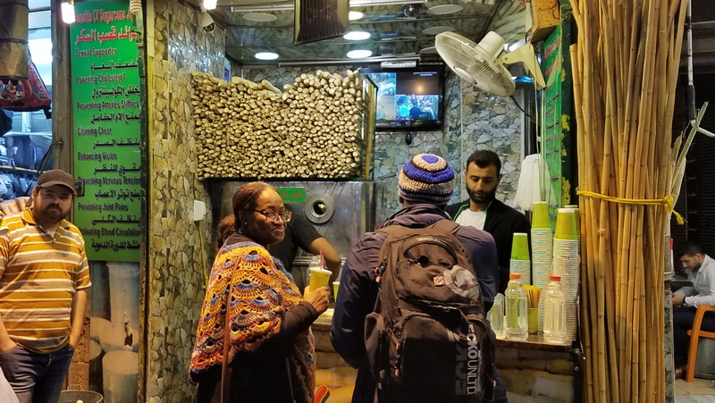 The Sugar Cane Juice shop in downtown Amman