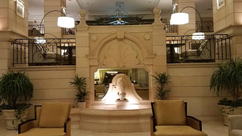 Lobby fountain inside the Marriott Amman