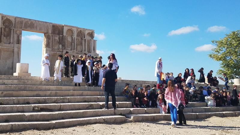 Ammanian students pose at the Citadel