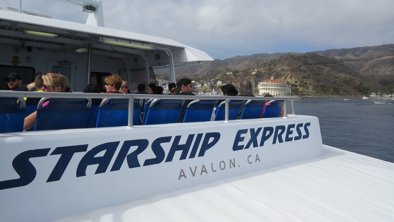The Starship Express Ferry coming into Avalon Harbor