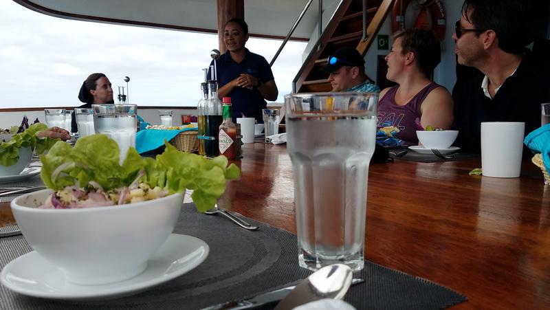 Lunch featuring Ecuadorian Ceviche on the Sea Star