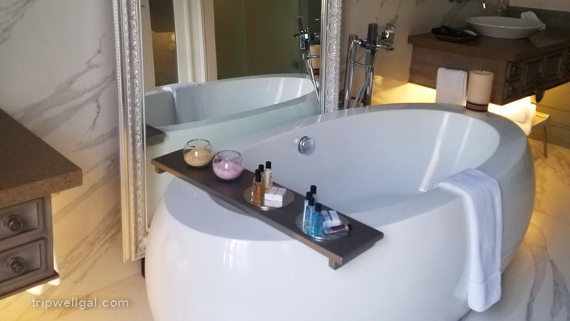 Illa luxury hotel bath in one of the ten rooms