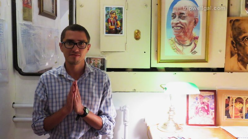 Buddhist host in the Interfaith New York hostel