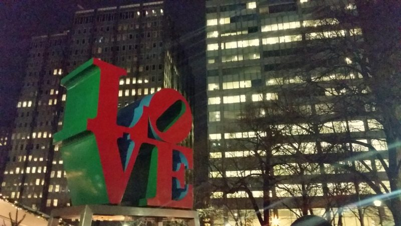 Robert Indiana's LOVE sculpture in the City of Brotherly Love, Philadelphia