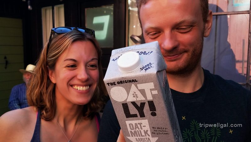 Oatly is a new, non-dairy coffee creamer.