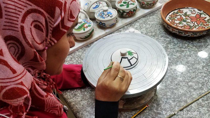 Handicrafts in Jordan include traditional ceramics