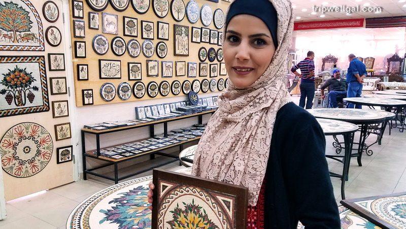 handicrafts in Jordan sales woman