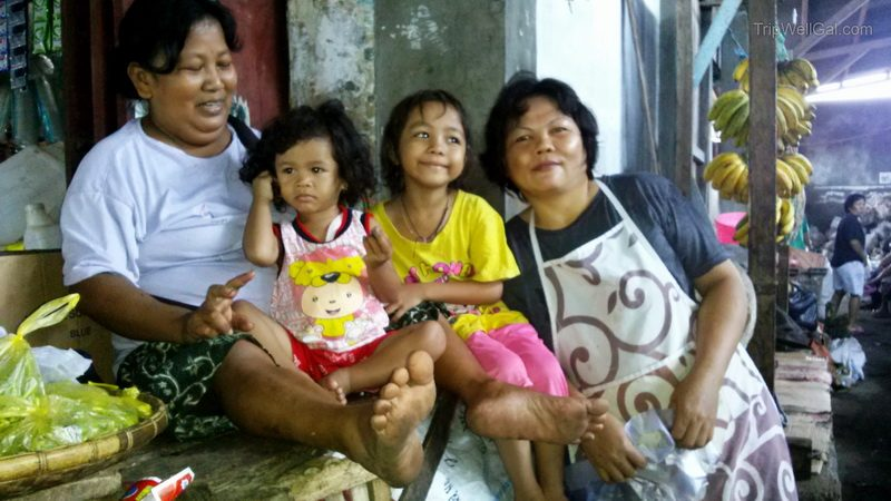 Family in the Bitung market