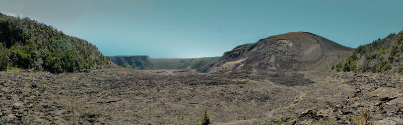 Kilauea Iki trail through the cooled caldera in 2011.