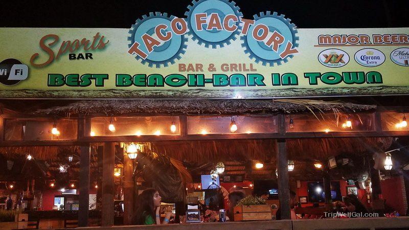 Taco spot in San Felipe