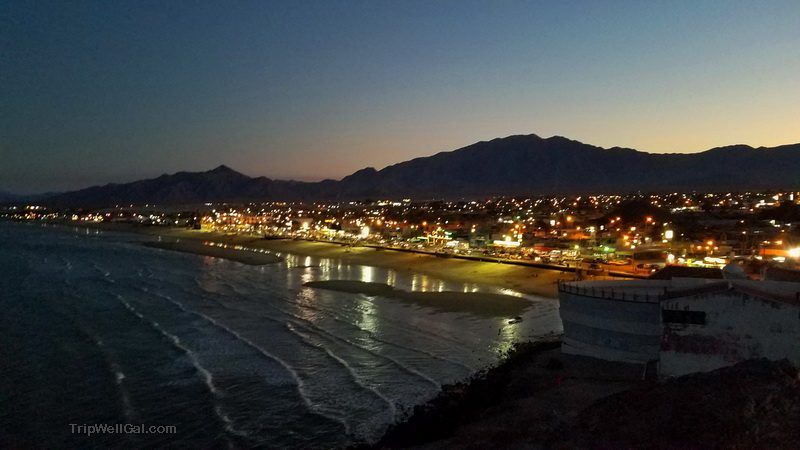 San Felipe at night in Mexico