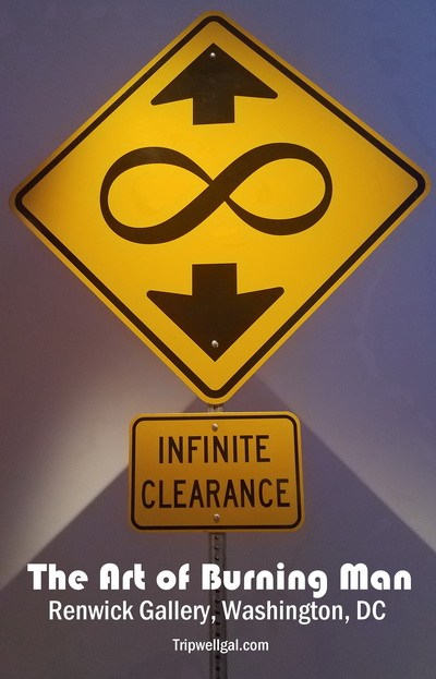 Infinite clearance Pin for the Renwick Gallery Burning Man Art Installation