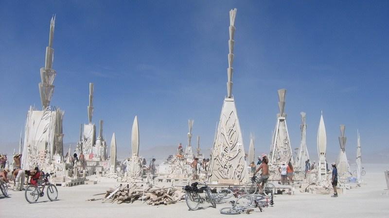 One Burning Man Art Installaion at the desert festival