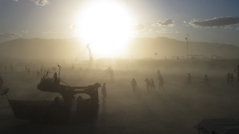 Burning Man dust storm by Brocken Inaglory