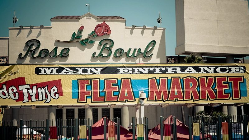 Flea shopper heaven at the monthly Rose Bowl Flea Market in Pasadena.