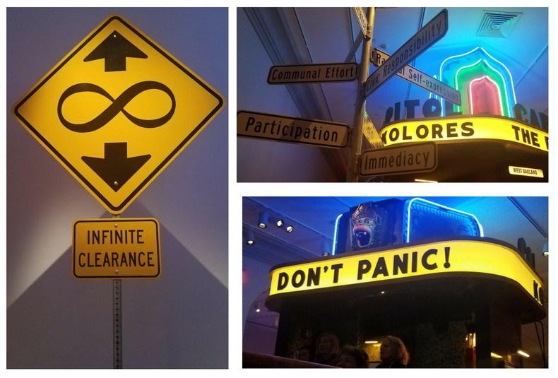 Signs of the times from the Burning Man Art Installation inside the Renwick Gallery.