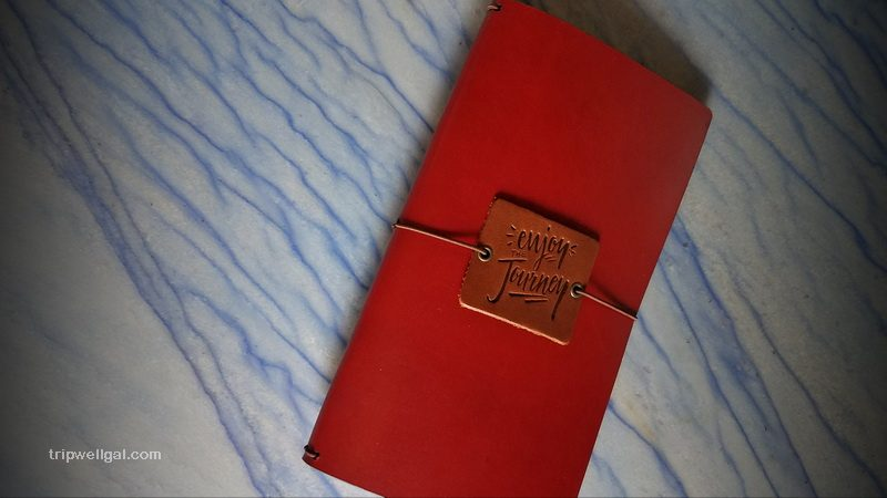 A slim Traveler's notebook cover by Galen Leather