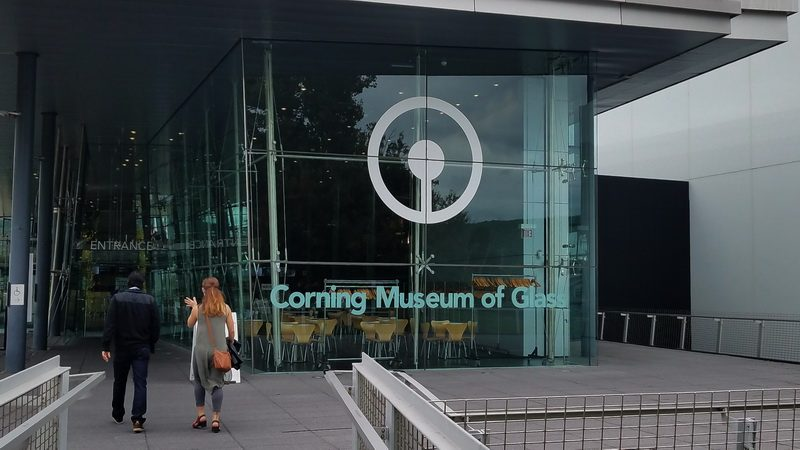 entering the Corning Museum of Glass