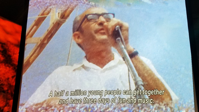 Moment from the Museum movie featuring the owner of the festival site.