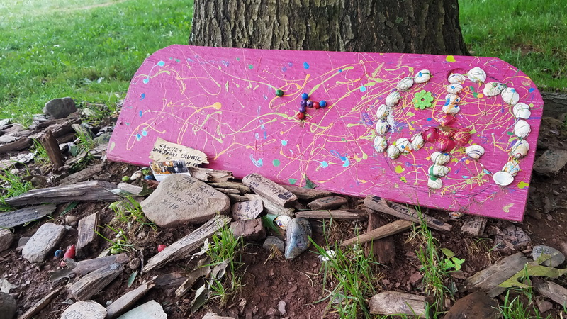 Mementoes at the Woodstock site