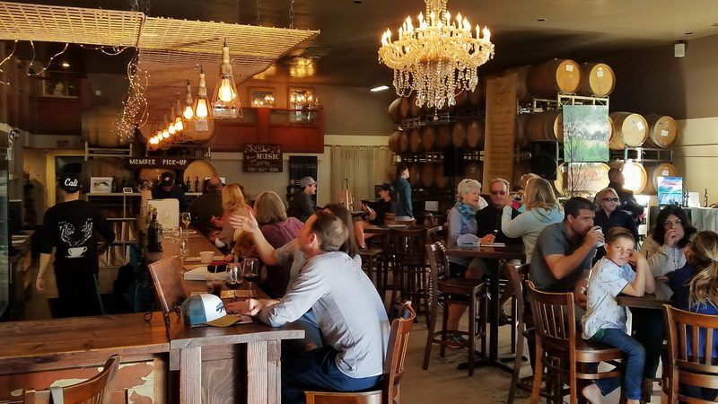 The Witch Creek Winery tasting room on the Carlsbad walking food tour