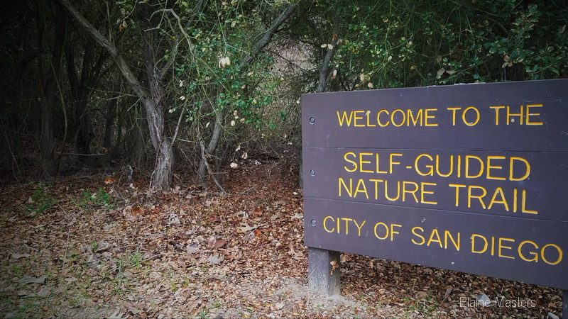Self guided trail sign in San Diego