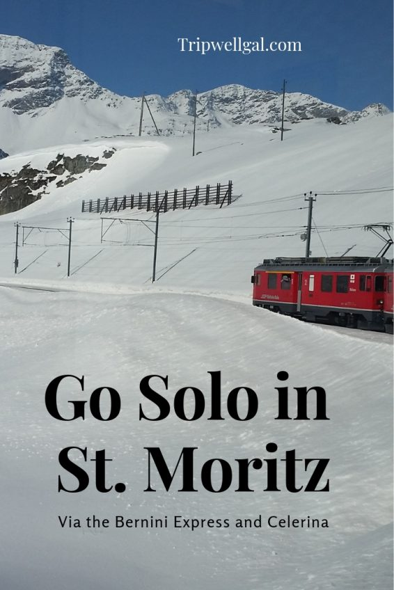 Solo in St. Moritz Pin